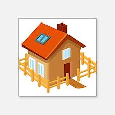 "House Square Sticker 3"" x 3"""