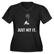 Pyrotechnics Women's Plus Size V-Neck Dark T-Shirt