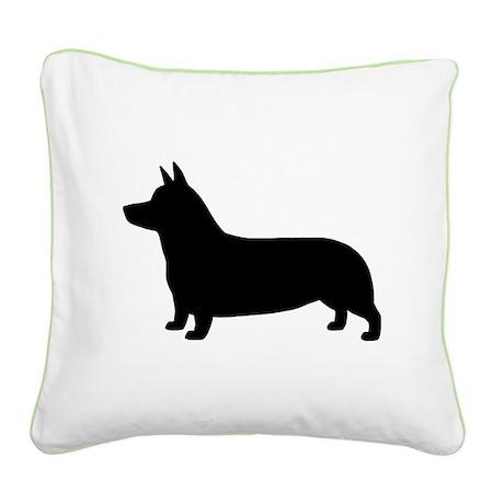 Pembroke Welsh Corgi Square Canvas Pillow