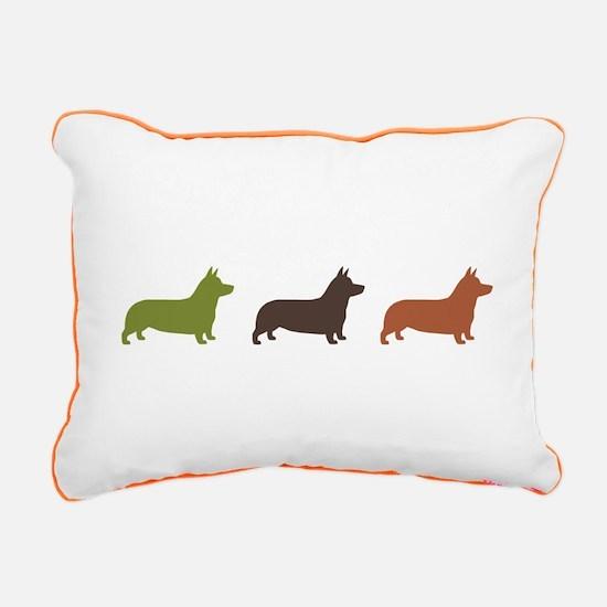 Pembroke Welsh Corgis Rectangular Canvas Pillow