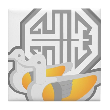 Duck Symbol Tile Coaster