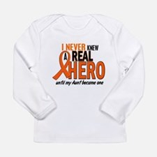 Never Knew A Hero 2 ORANGE (Aunt) Long Sleeve T-Sh