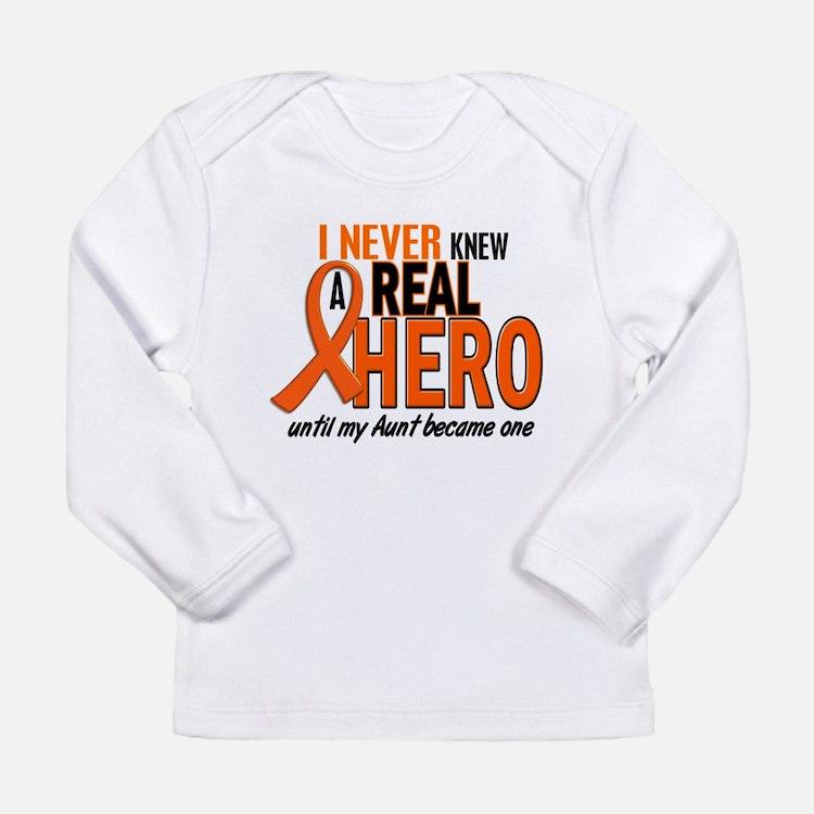 Never Knew A Hero 2 ORANGE (Aunt) Long Sleeve T-Sh