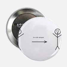 """Funny stick figures 2.25"""" Button"""