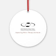 Unique Music therapy Round Ornament