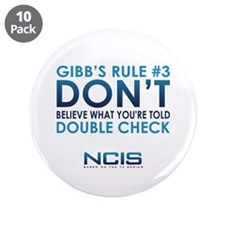 "Gibbs Rule #3 3.5"" Button (10 pack)"