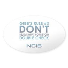 Gibbs Rule #3 Decal
