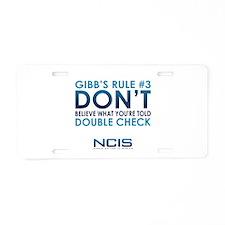 Gibbs Rule #3 Aluminum License Plate