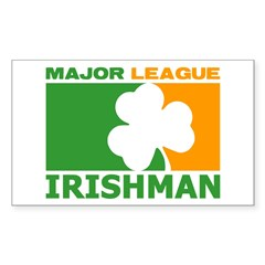 """Major League Irishman"" Decal"