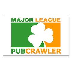 """Major League Pubcrawler"" Decal"