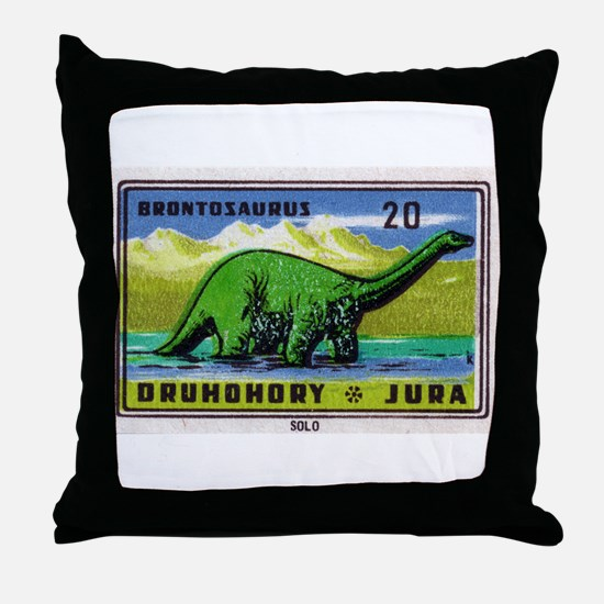 Brontosaurus Czechoslovakian Matchbox Label Throw