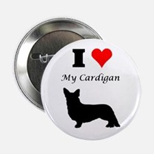 "I Love My Cardigan 2.25"" Button"