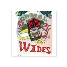 """My Version of Camel Wides Square Sticker 3"""" x 3"""""""