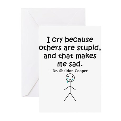 Big Bang Others Are Stupid Greeting Cards (Pk of 2