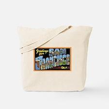 San Francisco California Greetings Tote Bag
