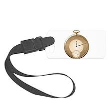 Gold Pocket Watch Luggage Tag