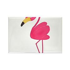 Pink Flamingo Rectangle Magnet