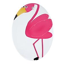 Pink Flamingo Ornament (Oval)