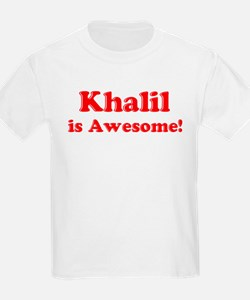 Khalil is Awesome Kids T-Shirt