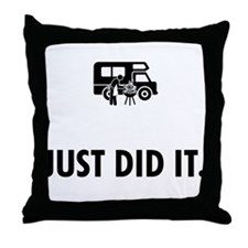 RV Fan Throw Pillow
