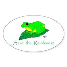 Save the Rainforest Oval Decal