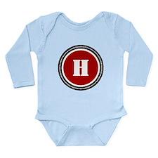Red Long Sleeve Infant Bodysuit