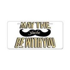 May the stache be with you Aluminum License Plate