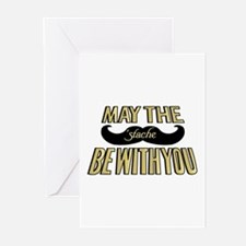 May the stache be with you Greeting Cards (Pk of 2