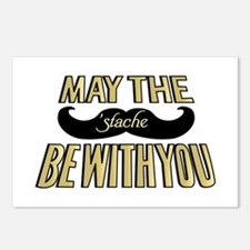 May the stache be with you Postcards (Package of 8