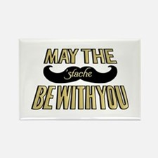 May the stache be with you Rectangle Magnet