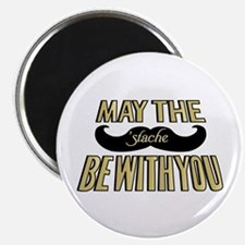 """May the stache be with you 2.25"""" Magnet (100 pack)"""