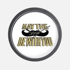 May the stache be with you Wall Clock