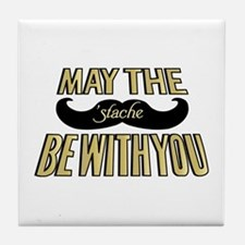 May the stache be with you Tile Coaster