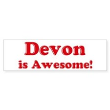 Devon is Awesome Bumper Bumper Sticker
