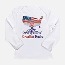 American Croatian Roots Long Sleeve T-Shirt