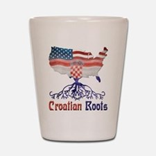 American Croatian Roots Shot Glass
