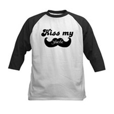 Kiss my stache Baseball Jersey