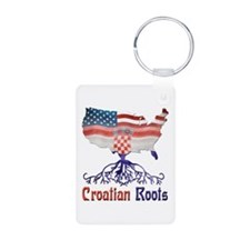 American Croatian Roots Keychains