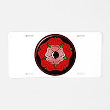 Rose of Love Aluminum License Plate