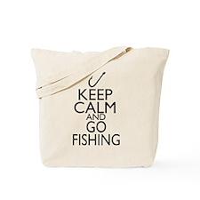 Keep Calm and Go Fishing Tote Bag