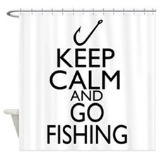 Keep Calm and Go Fishing Shower Curtain