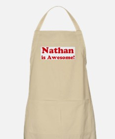 Nathan is Awesome BBQ Apron