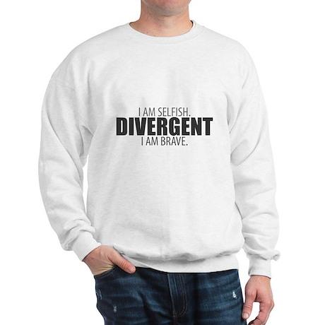 Divergent: I Am Selfish. I Am Brave. Sweatshirt