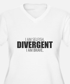 Divergent: I Am Selfish. I Am Brave. Plus Size T-S