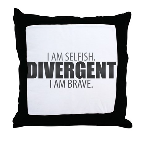 I Am Selfish, I Am Brave Gradient Throw Pillow