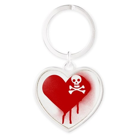 Anti Valentines Day Emo Heart Heart Keychain