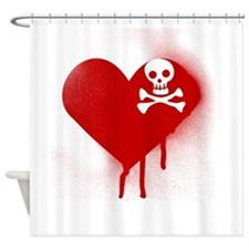 Anti Valentines Day Emo Heart Shower Curtain