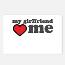My Girlfriend Loves Me Postcards (Package of 8)