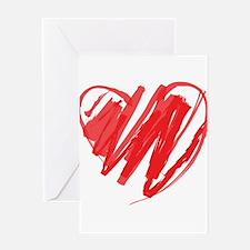 Crayon Heart Greeting Card