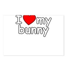 I Love My Bunny Postcards (Package of 8)